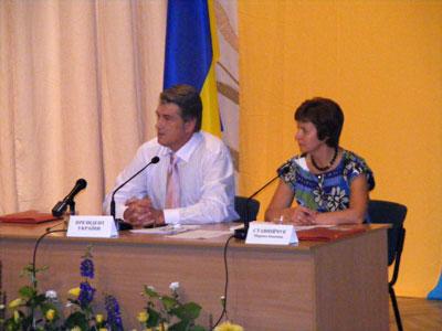 Віктор Ющенко на нараді у Вінниці