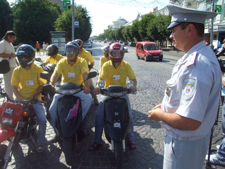 """Починаючи з 16 липня вінницький мото-скутер клуб """"Скутер-лайф"""" спільно із ДАІ буде патрулювати вулиці."""