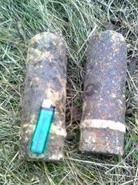 Вихідними вінничани знайшли снаряди часів Другої світової поблизу річки, в лісі та на власному городі