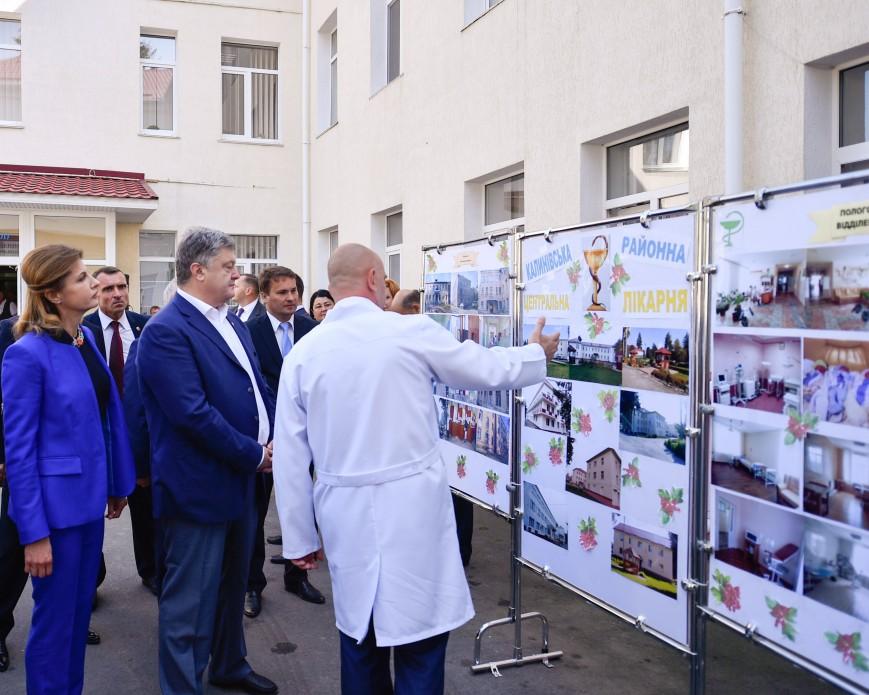 Глава держави разом з дружиною відвідав Калинівську центральну районну лікарню