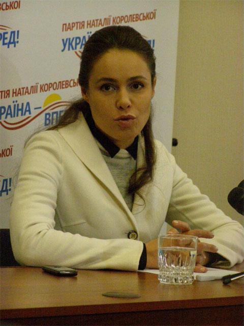 Лідер політичної партії «Україна – Вперед!» Наталя Королевська у Вінниці