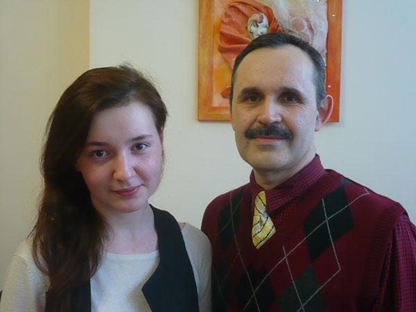 Лілія Кушнір  із керівником Барабашем Віктором Вікторорвичем