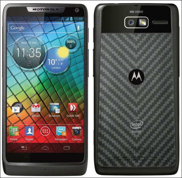 Intel-смартфон Motorola Razr і