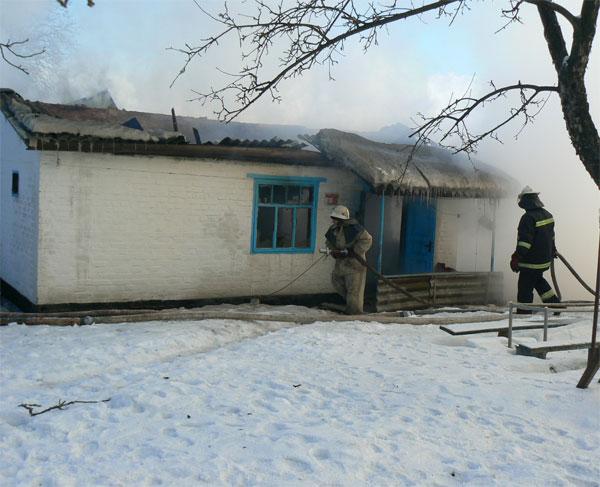 пожежа в с.Скоморошки,  Оратівський район
