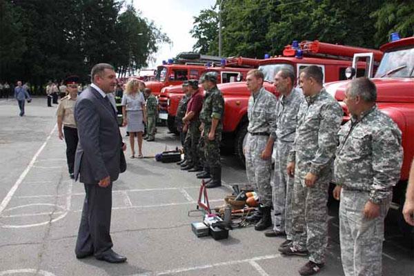 конкурс місцевих пожежних команд у Вінниці
