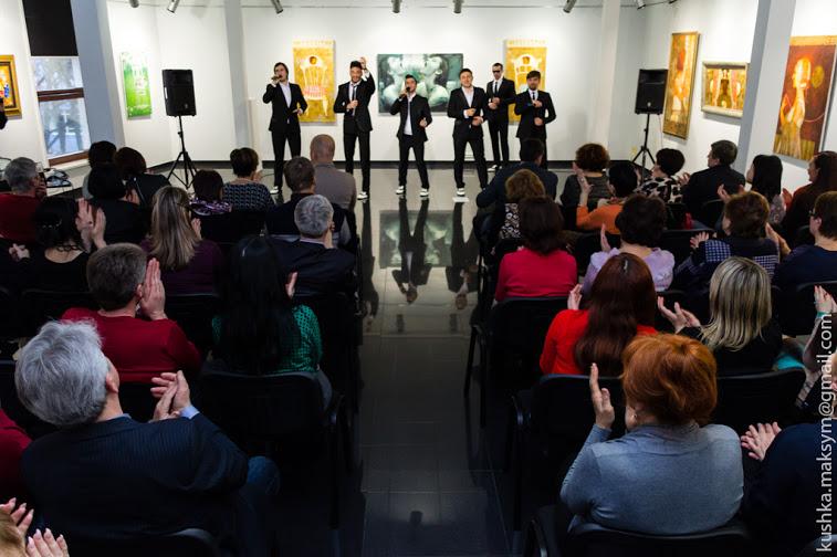 концерт гурту DukeTime у галереї Арт-Шик
