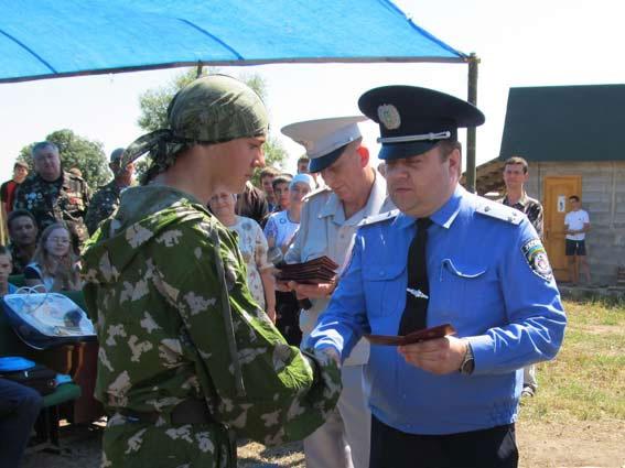 Вітання  юних десантників