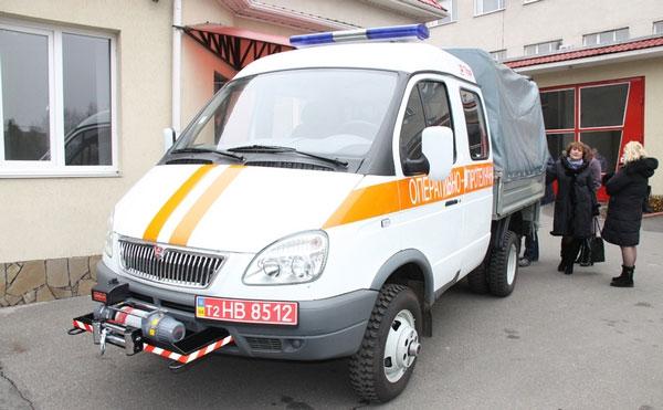 Новий піротехнічний автомобіль, який отримали рятувальники
