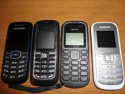 телефони. які намагалися передати засудженому
