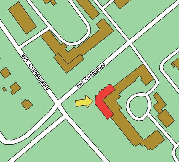 карта розташування бібліотеки