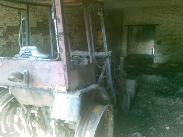 пожежа пошкодила трактор ХТЗ-25