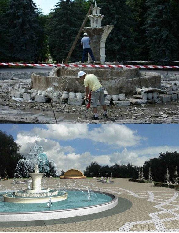 Реконструкція фонтану у Центральному парку