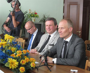 Маршалек Нижньосілезійського воєводства Рафал Юрковлянець із делегацією