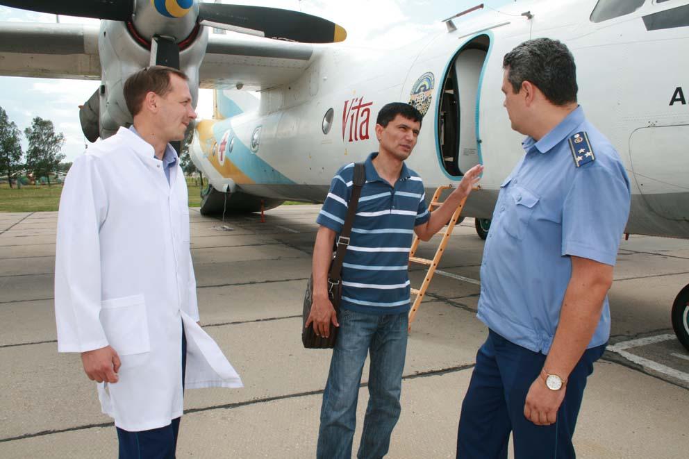 Візит старшого офіцера військово-медичного управління туркменістану Гадама Текеєва