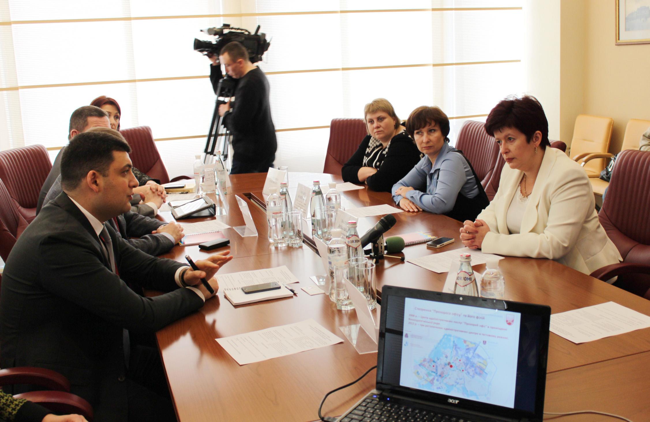 Валерія Лутковська у Вінниці зустрілася із мером міста Володимиром Гройсманом
