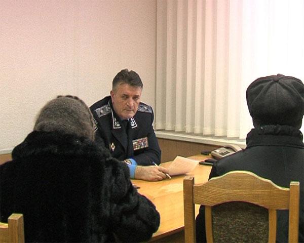 Генерал Русин провів перший особистий прийом громадян