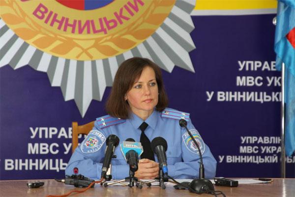 Начальник відділу зв'язків з громадськістю управління внутрішніх справ області Ганна Олійник