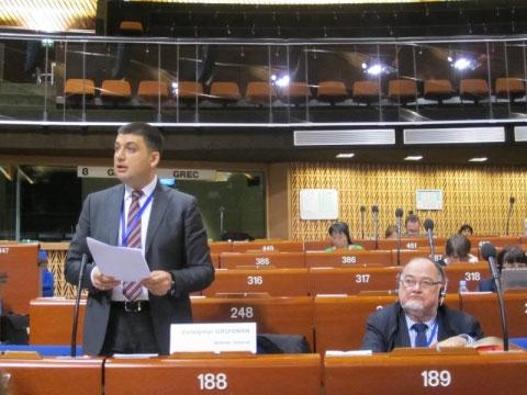 Володимир Гройсман виступив у дебатах «Сприяння етичній поведінці та запобігання корупції», які пройшли в рамках 24-ї сесії Конгресу