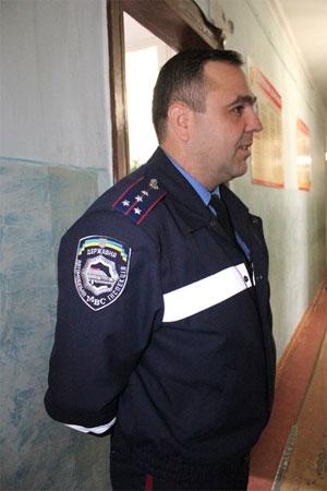 Валерій Котов, начальник ДАІ Тиврівського району і почесний донор