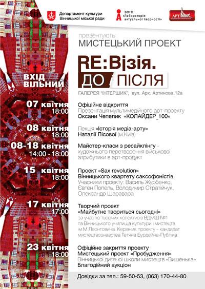 Цьогоріч мистецький проект «Ре:візія» буде пронизаний тематикою АТО
