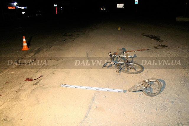 Вчора на Немирівському шосе невстановлений автомобіль насмерть збив велосипедиста. ДАІ шукає свідків пригоди