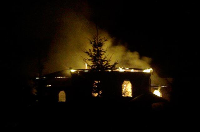 На Вінниччині за нез'ясованих обставин загорілась церква