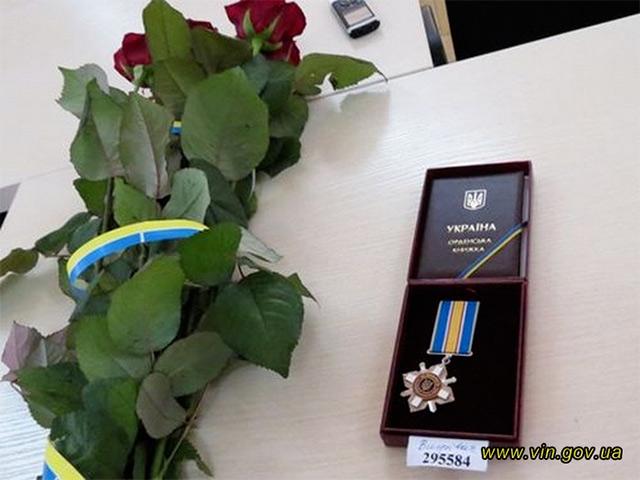 """Вінницького героя АТО нагородили орденом """"За мужність"""" ІІІ ступеня"""