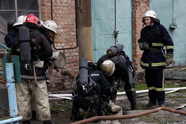 Вінницькі рятувальники сьогодні гасили умовну пожежу на олійножировому комбінаті