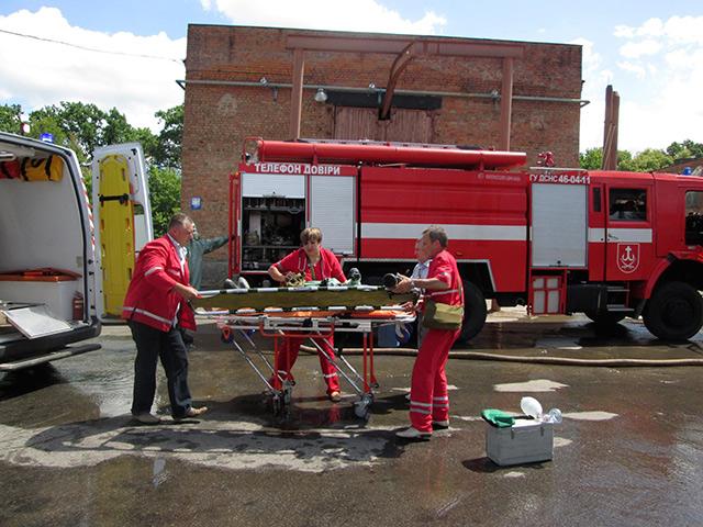 """На """"Водоканалі"""" рятувальники разом з іншими службами тренувалися ліквідовувати надзвичайні ситуації"""