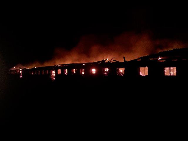 Вночі в Немирівському районі згоріла ферма