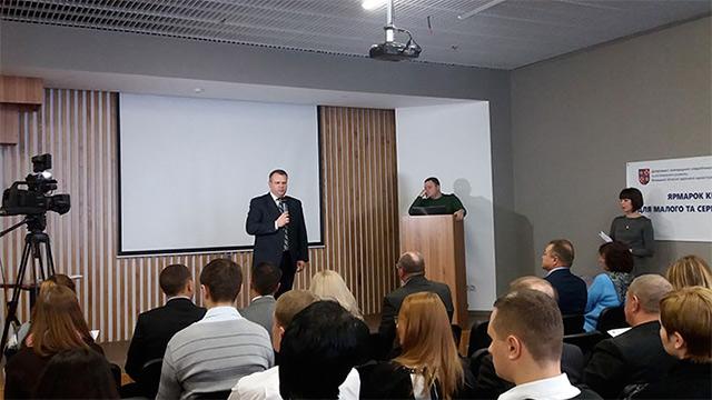 """На """"Ярмарок кредитів"""" у Вінниці зібралось близько сотні представників малого та середнього бізнесу"""