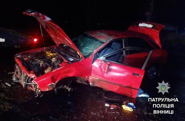 """На Немирівському шосе перекинулась """"Ауді"""" - водій отримав незначні ушкодження"""