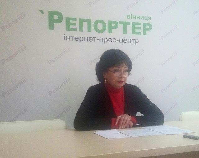 Начальник Вінницького РАЦСу Галина Левицька