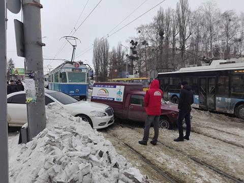 Через ДТП на вул. Келецькій стояли трамваї
