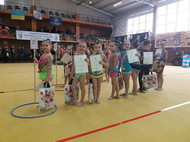Вихованки 1-ї спортивної школи вибороли 4 золотих медалі на відкритому турнірі з художньої гімнастики