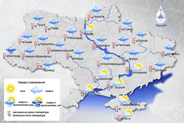 До уваги вінничан - у п'ятницю на Вінниччині прогнозують сильні пориви вітру