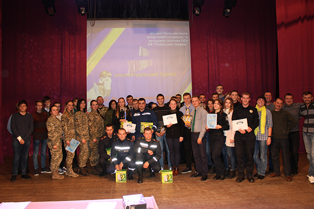 """В інтелектуальному турнірі """"Сила нескорених"""" перемогла команда Вінницьких рятувальників"""