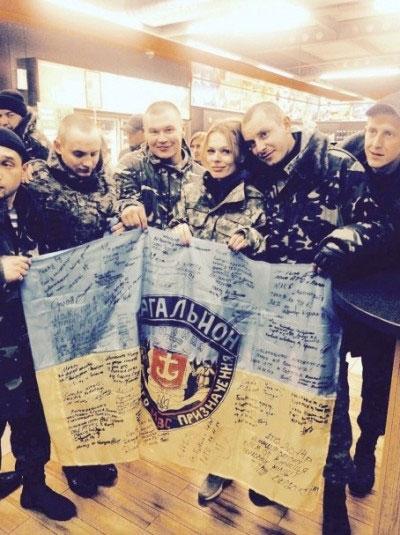 """Ольга Фреймут завітала до бійців батальйону спецпризначення """"Вінниця"""""""