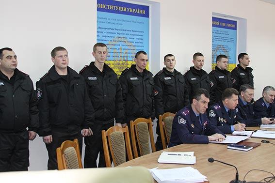 """Бійців батальйону """"Вінниця"""" за службу у зоні АТО відзначили в обласній міліції"""