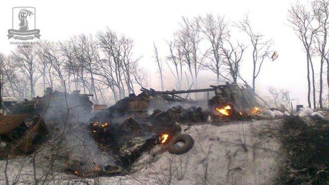Українські військові під Дебальцевим знищили 14 ворожих танків