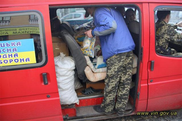 Для жителів Донбасу мешканці Вінницької області відправили гуманітарний вантаж