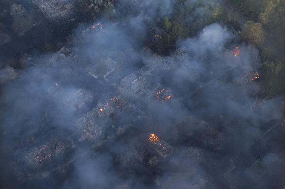 Пожежа у Чорнобильській пущі
