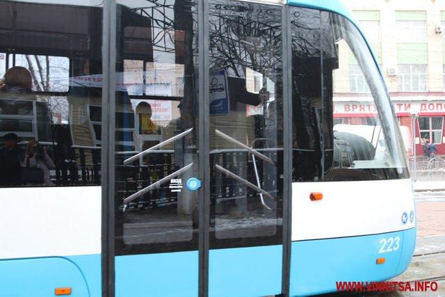 Сьомий трамвай, зроблений працівниками Вінницької транспортної компанії, вийшов на маршрут