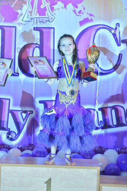 Дарія Яринчак здобула першість на чемпіонаті Кубка світу зі східних танців (World Cup off Bеlly Dance)