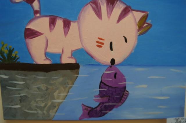 Вінничан запрошують у бібліотеку №11 на виставку картин «Коти: від А до Я», яку підготували юні художники