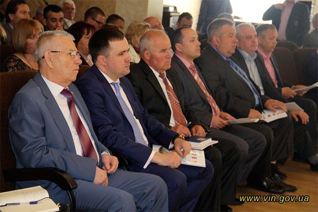 На Вінниччині обговорювали етапи децентралізації влади та добровільне об'єднання територіальних громад