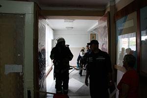 Вчора на території ВНТУ рятувальники гасили умовну пожежу