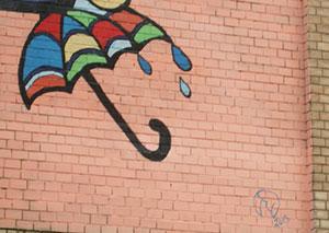 На стіні будинку на Пирогова з'явився ще один малюнок в рамках проекту Vin-Mural