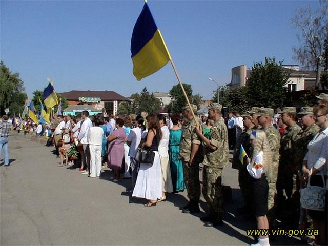 На Вінниччині відкрили пам'ятник бійцям, які загинули у зоні АТО