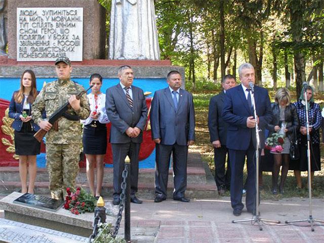 У Вінницькій області відкрили  меморіальну дошку бійцю АТО Сергію Шевчуку